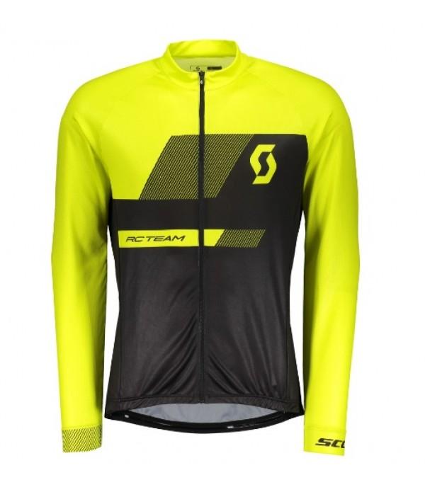 Camisa Scott RC Team 10 Preto com Amarelo Manga Lo...
